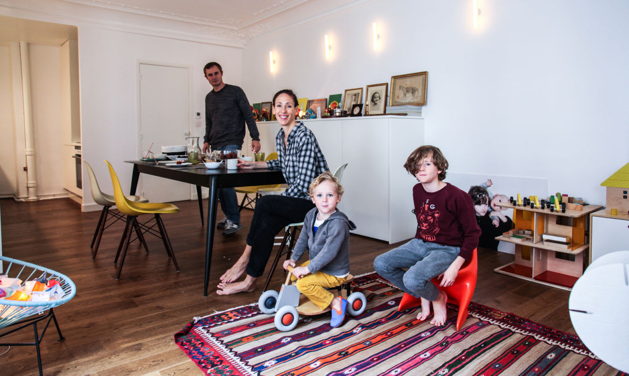 Marie Soudré Richard and Fabien,<br> Paul 8, Jacques 3 years old