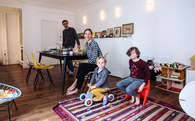 Marie Soudré-Richard et Fabien, <br/>Paul 8 ans, Jacques 3 ans
