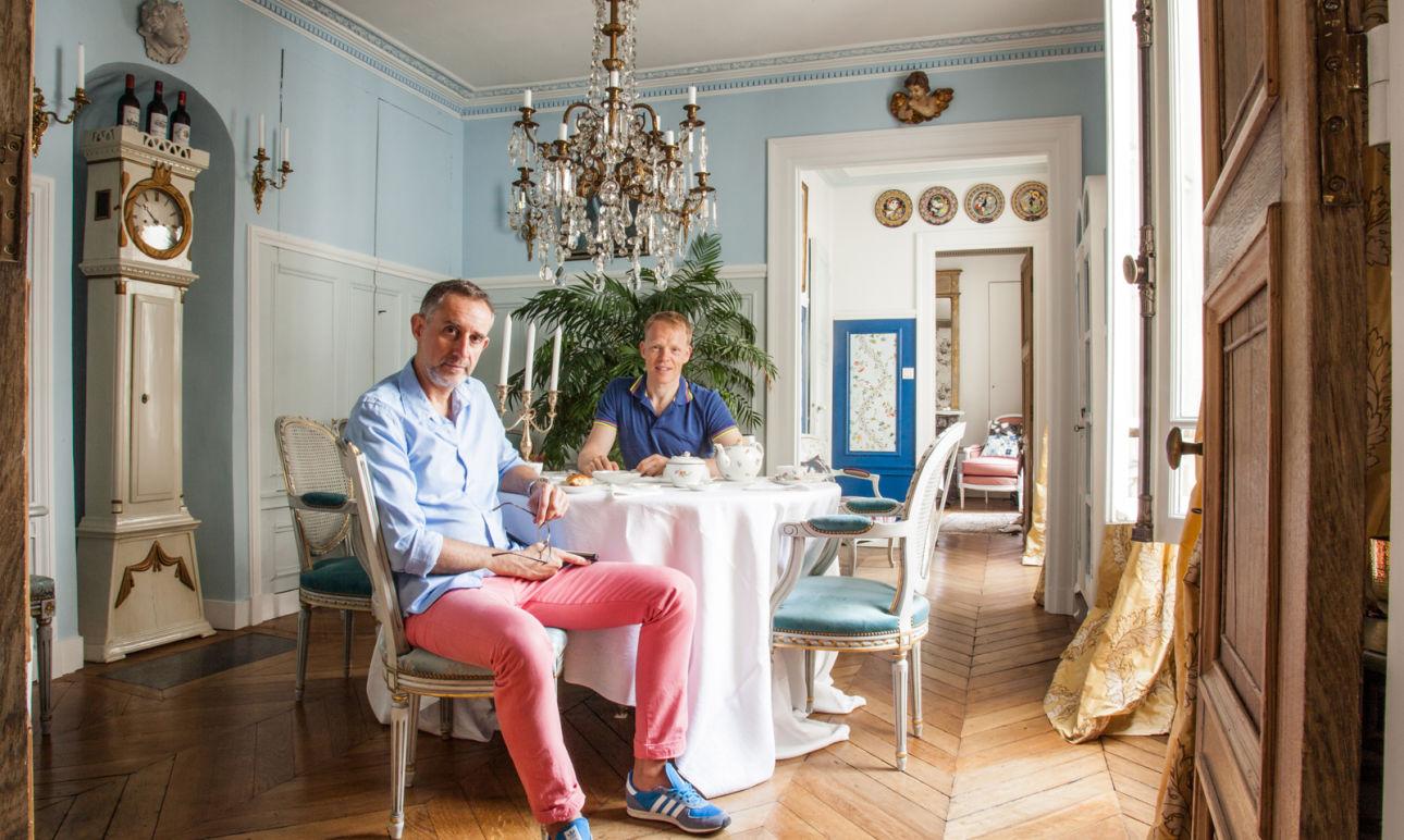 salle manger style versailles chaise cannage laurent billiet