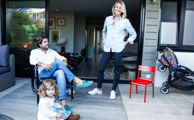 Pierre-Emmanuel Risch et Carole Marchal,<br> Pia 2 ans