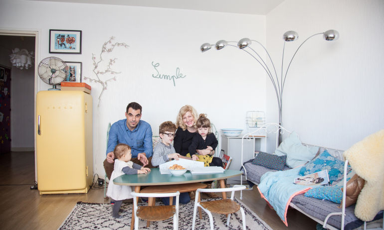 Elisa Gallois et Denis, <br/>Jules 12 ans, Lou 3 ans et Mia 10 mois