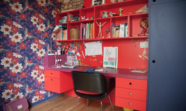 Bureau Enfant Papier Peint Appartement Créatrice Chez Bogato Anaïs Olmer