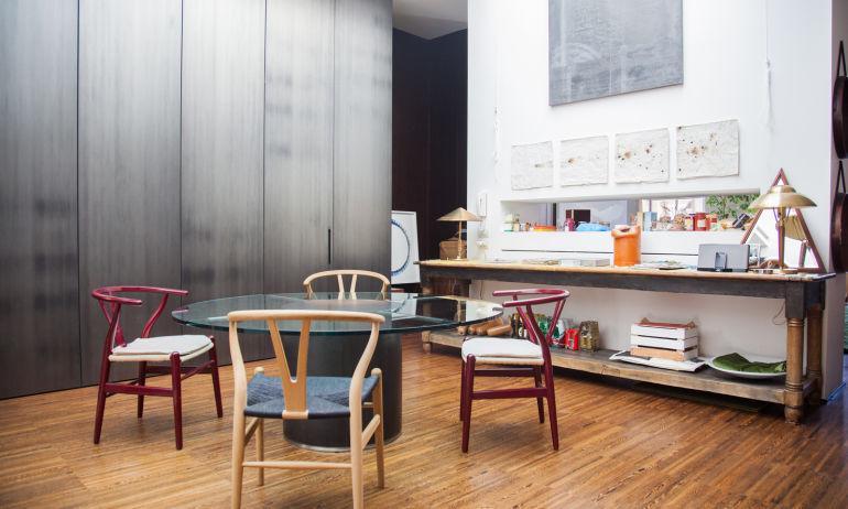 Salle à manger Tommaso Fantoni Appartement Milan