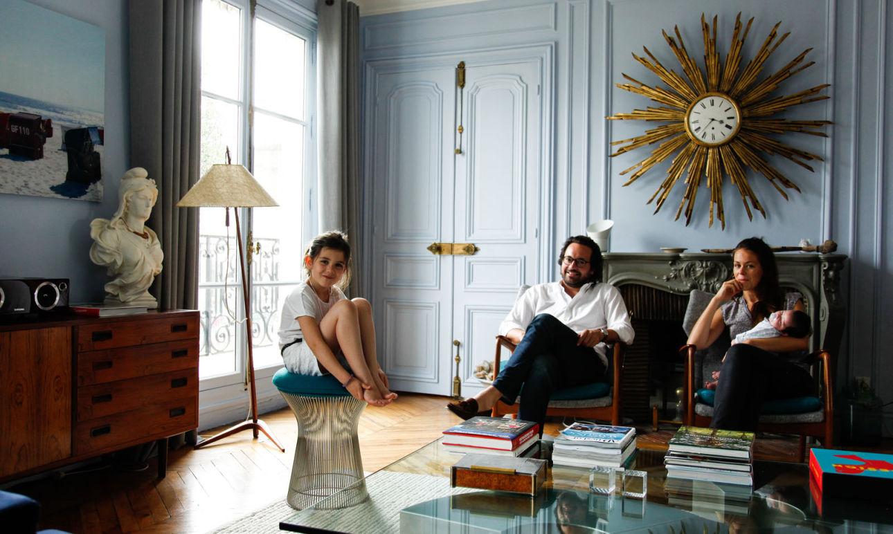 Julia Rouzaud et Julien, <br/> Manon 7 <br/> et Léon 3 months