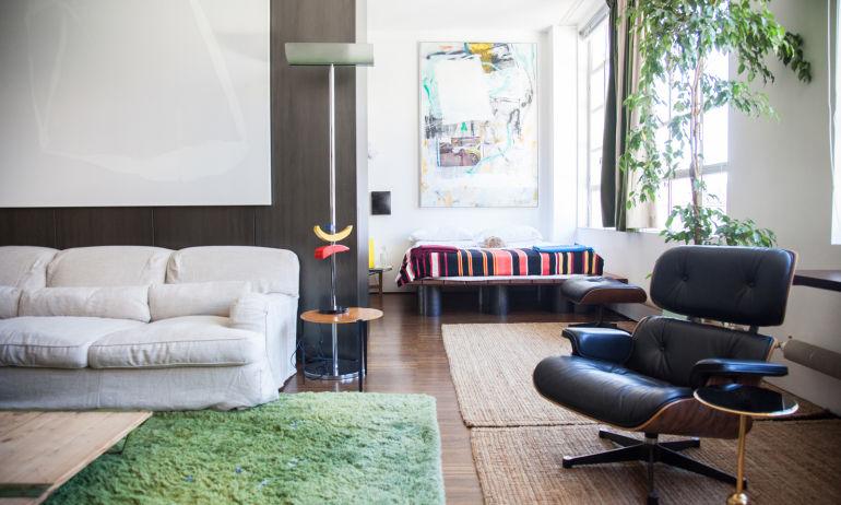 Salon Architecte Tommaso Fantoni Appartement Milan