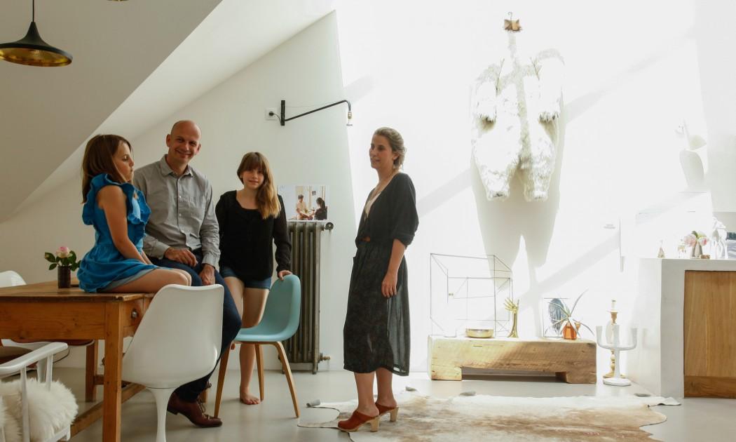 Annabel et Jérôme Gueret, Louise 13 ans<br />et Violette 8 ans