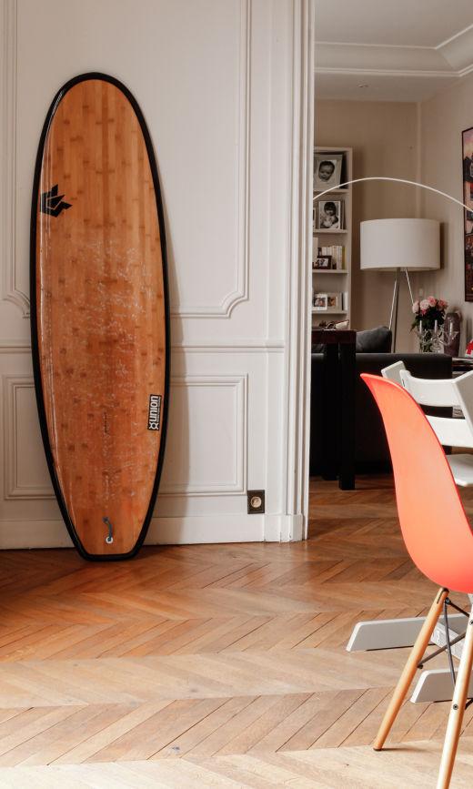 Salon Appartement Paris Tracy Francelet et Jean-Philippe Bouchard