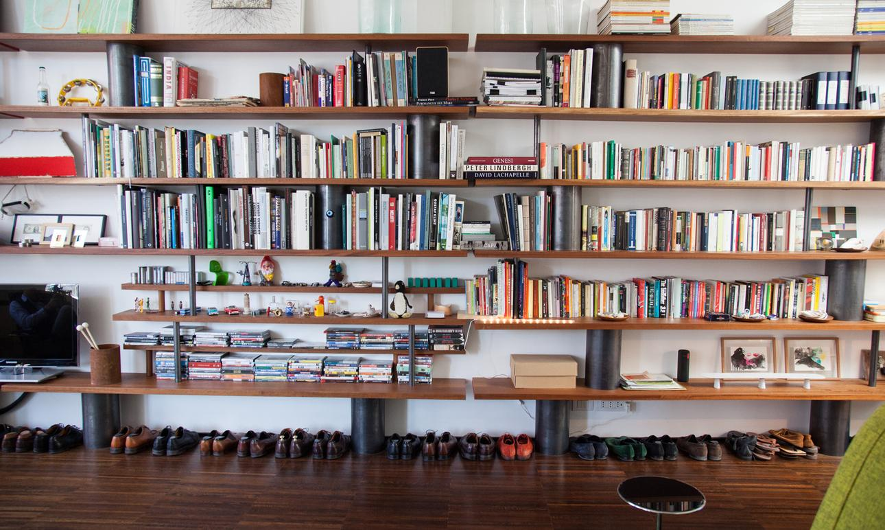 Bibliothèque Architecte Designer Livres Rangement Chaussures Tommaso Fantoni Appartement Paris