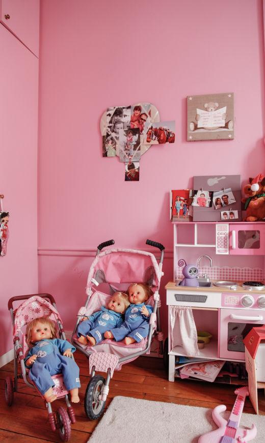 Chambre Enfant Déco Rose Fille Tracy Francelet et Jean-Philippe Bouchard