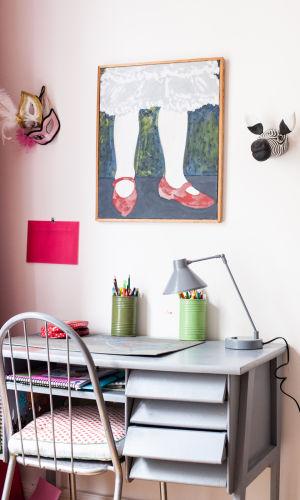 Bureau Enfant Bois Vintage – Delphine De Canecaude