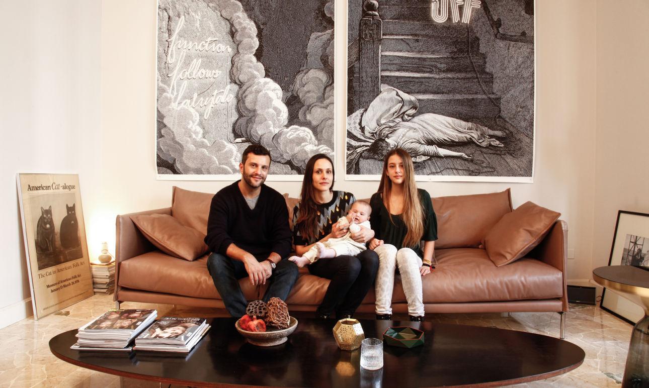 Adriano Russo, Silvia Cammilli, <br/>Naïma 13 and Bianca-Sofia 7 months