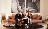 Adriano Russo, Silvia Cammilli, Naïma 13 ans et Bianca Sofia 7 mois