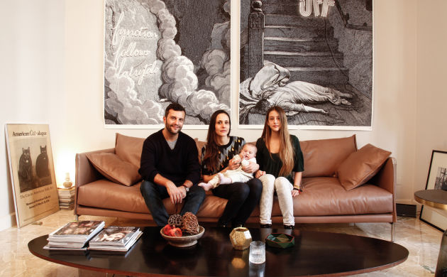 Adriano Russo, Silvia Cammilli, <br> Naïma 13 ans et Bianca Sofia 7 mois