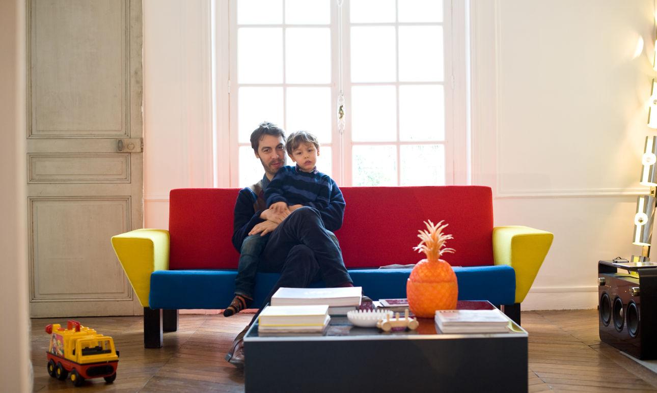 Julien Labrousse<br/> et Lucio 4 ans