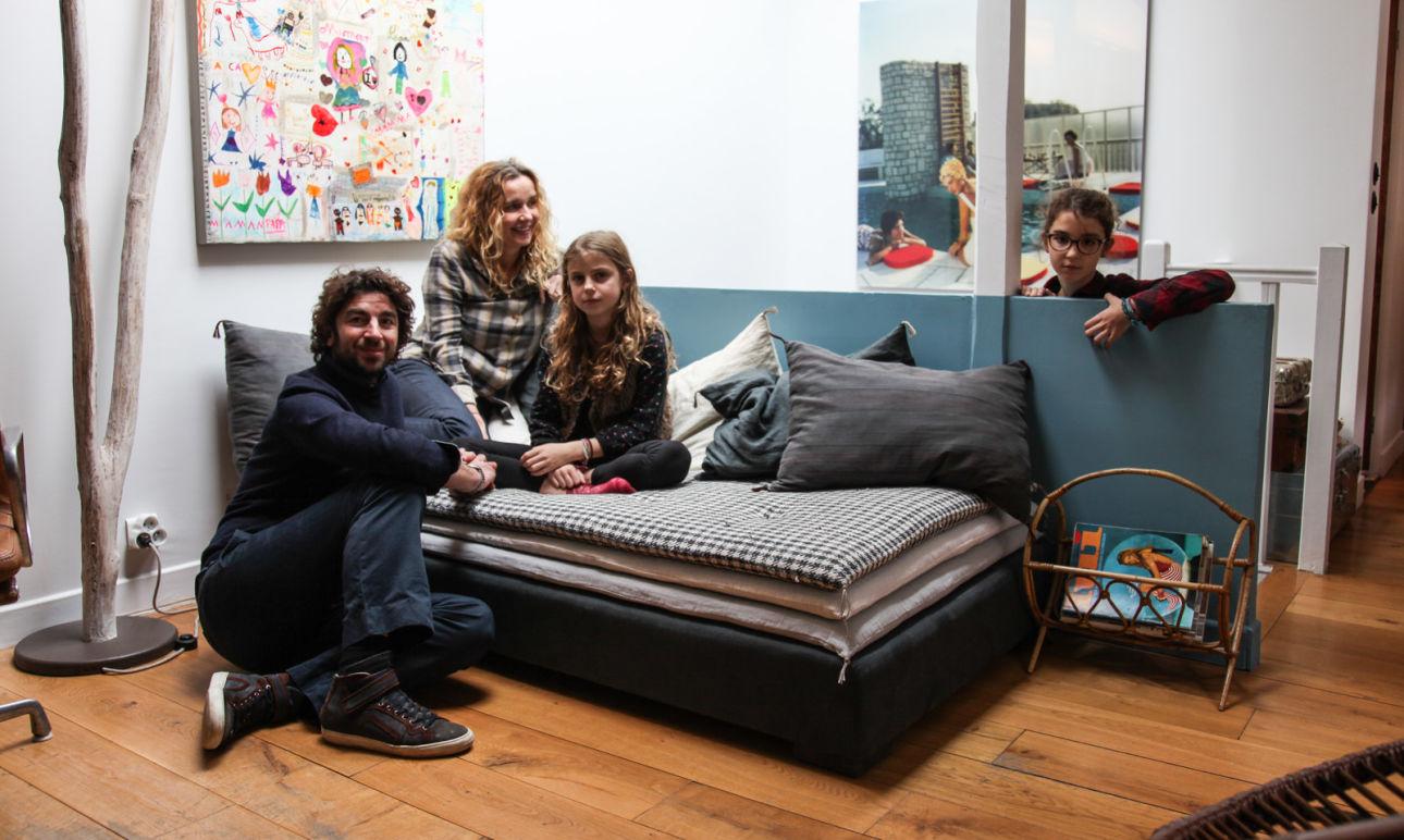 Karine Duprez et Giovanni Guida, <br/>Bianca 1, Rosa 9 ans