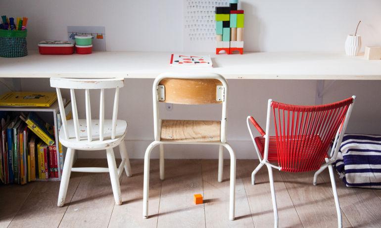 Bureau Enfant Chaise Différentes Delphine Imbert Maison Nantes
