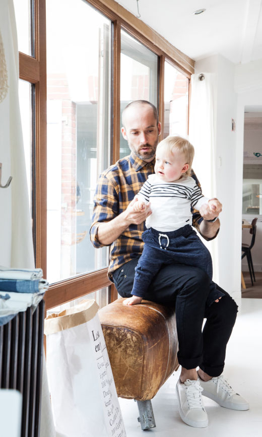 Delphine Imbert et Nicolas, <br> Valentin 4 ans et Gustave 15 mois