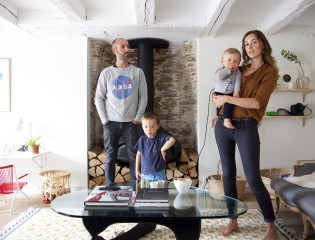 Delphine Imbert et Nicolas, Valentin  4 ans et Gustave 15 mois