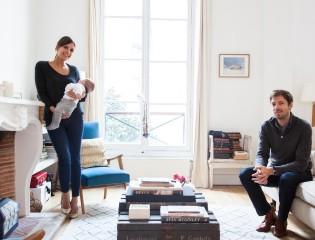 Morgane Sézalory et Thibault, Nina 4 mois