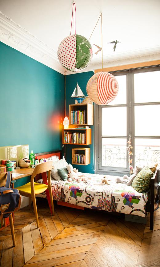 chambre d'enfant famille sabrina ficarra et cyril laborde lit bureau