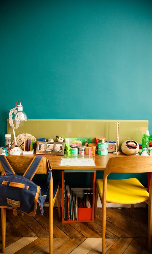 chambre enfant sabrina ficarra et cyril laborde bureau bois vintage