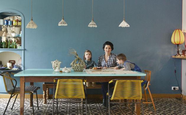 Anne Millet, <br> Reina 6 ans et Niels 4 ans