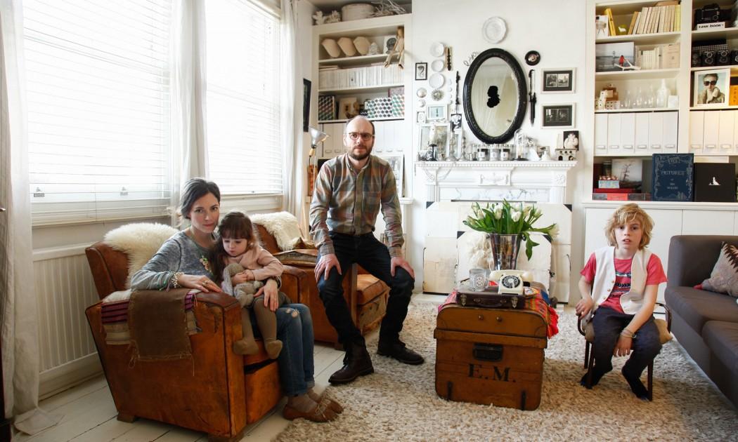 Emma Cassi<br /> et Bertrand Bosredon, Antonin 9 ans, <br /> Hope 4 ans
