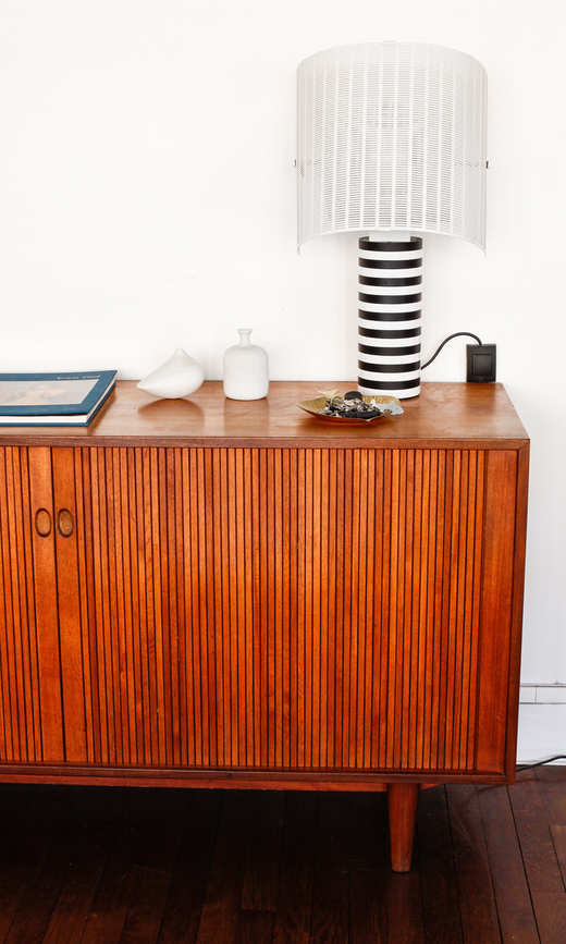 salon laure chede enfilade bois lampe shogun