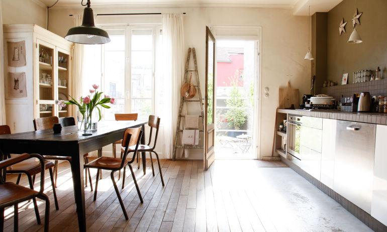 Cuisine ouverte Salle à manger Sonia Lucano Maison Montreuil