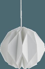Suspension en papier blanc