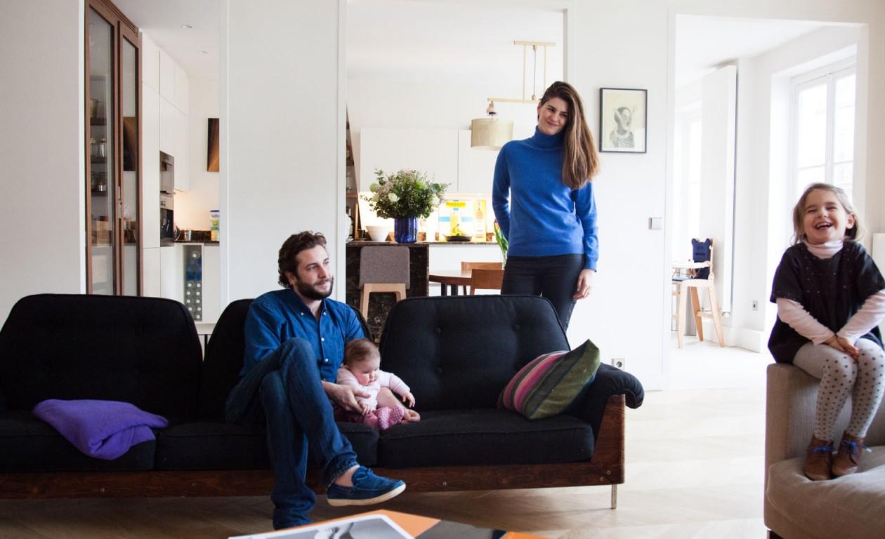 Alice et Paul-Charles Ricard, Violette 5 ans et Maxime 6 mois