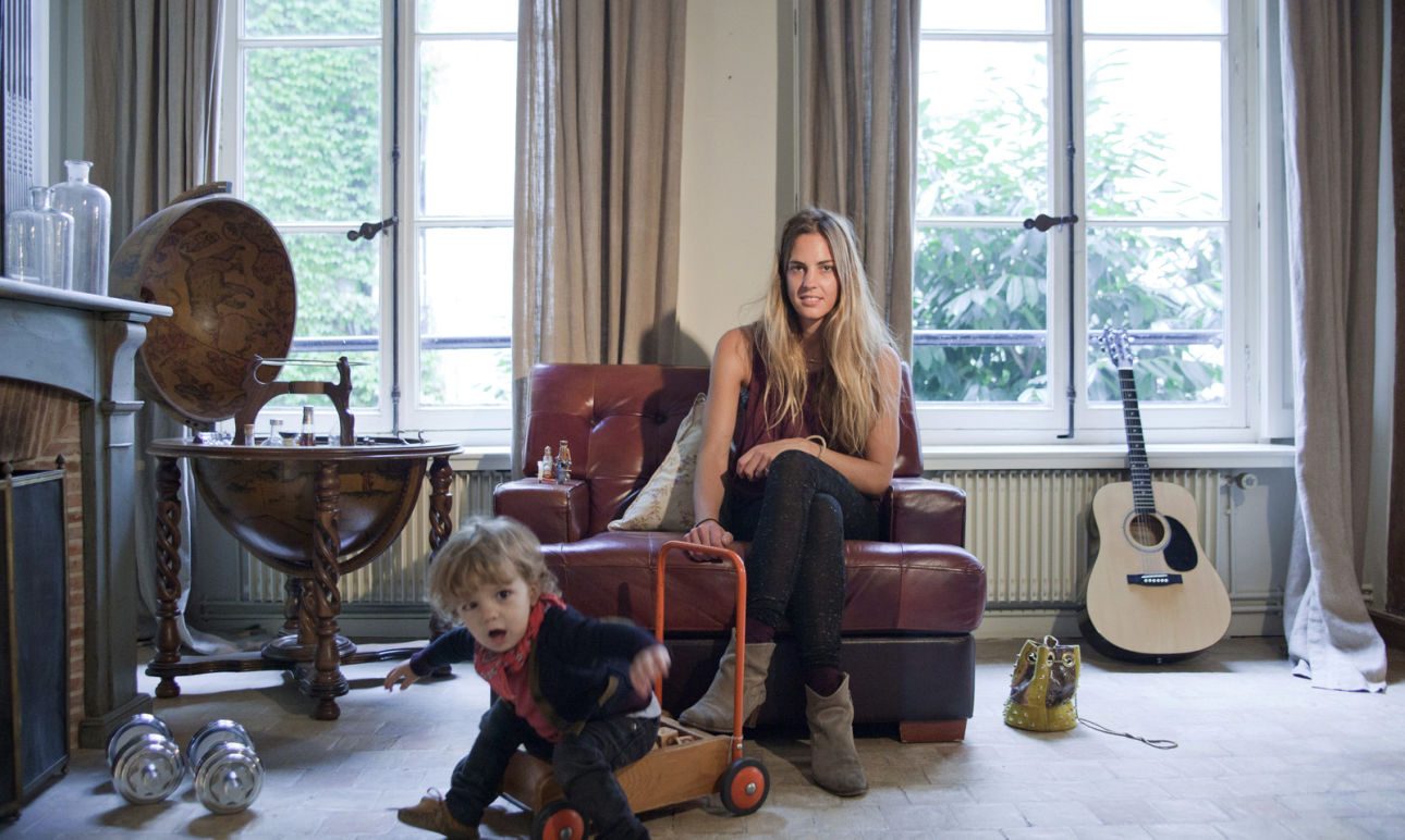 Delphine Delafon et Camille 3 ans