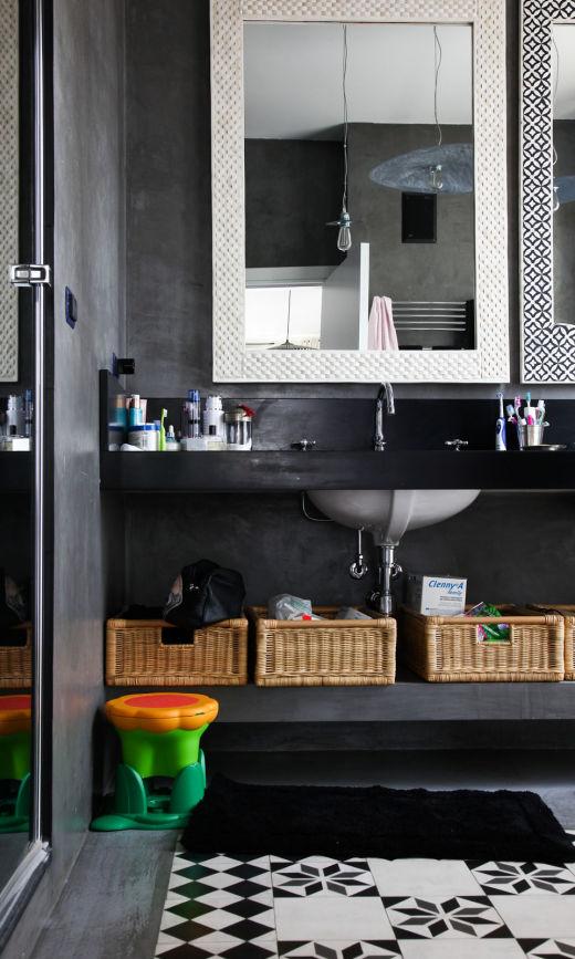 Salle de bain en carrelage