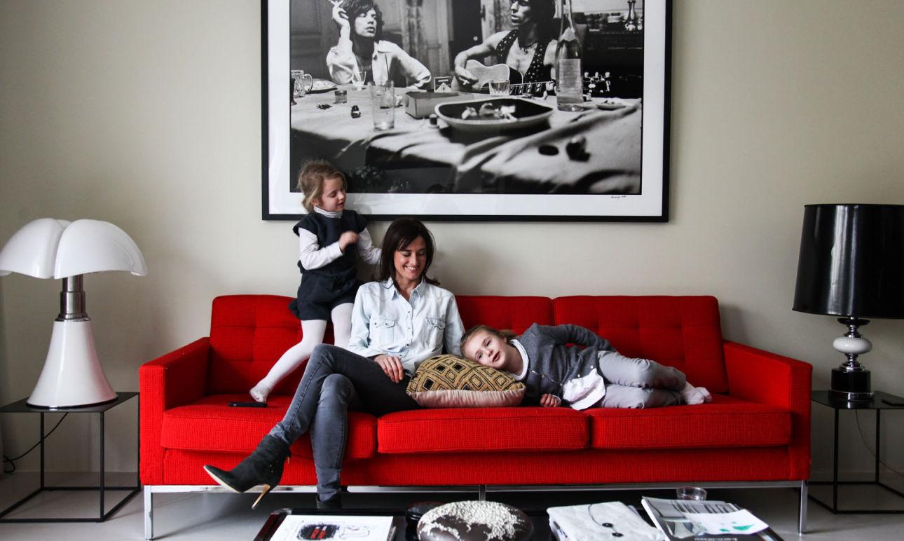 Mary Erlingsen,<br> Emma 6 ans et Margot 5 ans