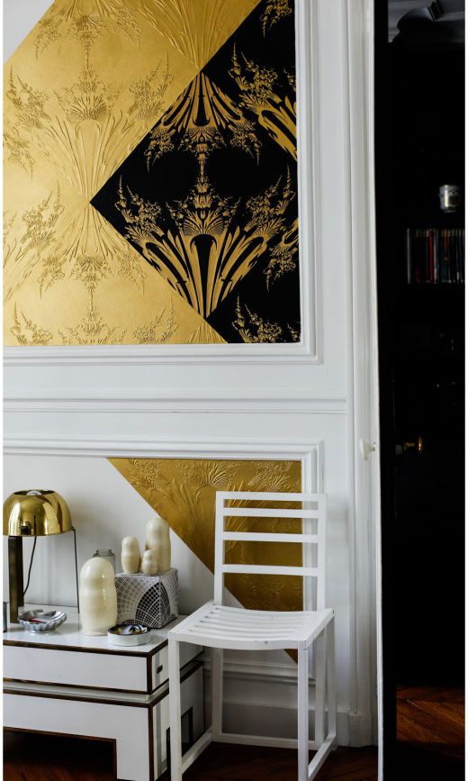 Mur Emmanuel Bossuet Emmstudio Création Papier Peint Doré