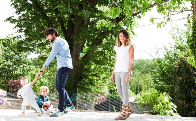 Anne-Claire Ruel et Nicolas, <br>Anton 3 ans et Scarlett 18 mois