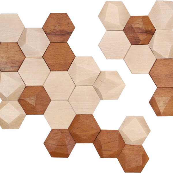 beautiful bee apis wooden hexagonal wall decor by monoculo. Black Bedroom Furniture Sets. Home Design Ideas