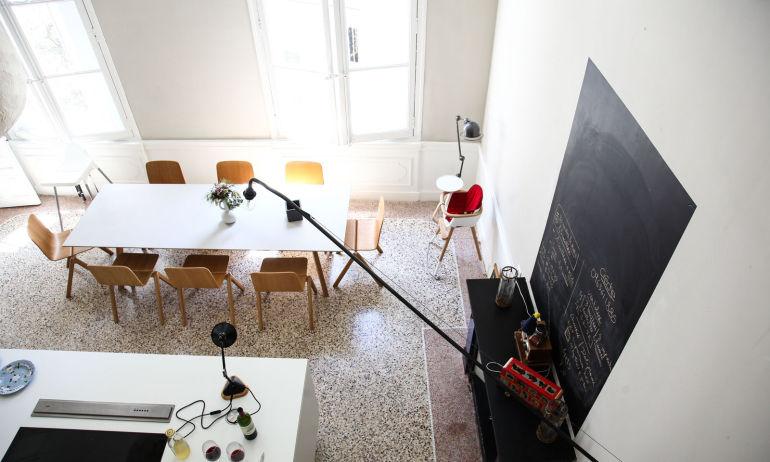 Cuisine Sol en terrazzo Appartement Montpellier Nelly Patron