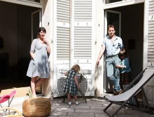 Eugénie de Mortemart et Gabriel, Elie 6 ans et Olga 2 ans