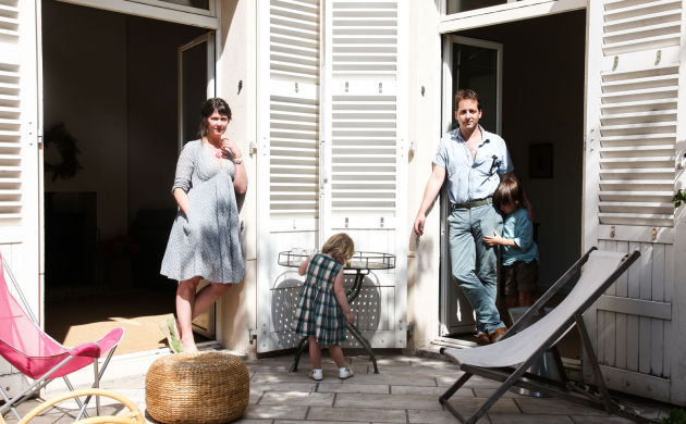 Eugénie de Mortemart and Gabriel, <br/>Elie 6 years old, Olga 2 years old