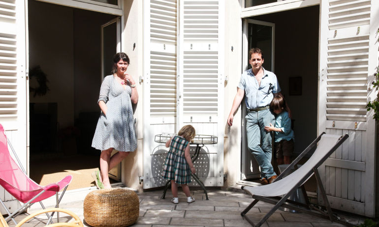 Eugénie de Mortemart et Gabriel, <br/>  Elie 6 ans, Olga 2 ans