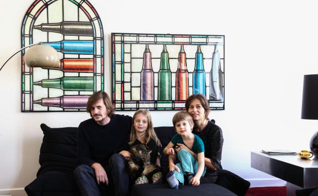 Fanny Millet et David, <br/> Andrea 8 ans et Adam 5 ans