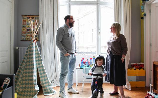 Aurélie Coene et Thomas Van Den Driessche, <br/>Achille 3 ans