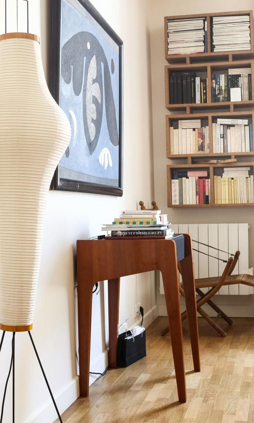Bureau Livres Appartement Fanny Millet et David Paris