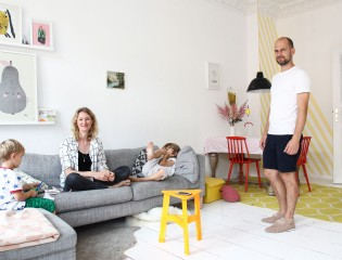 Sina Gwosdzik et Jakob Dannenfeldt, Jasper 6 ans et Matteo 3 ans