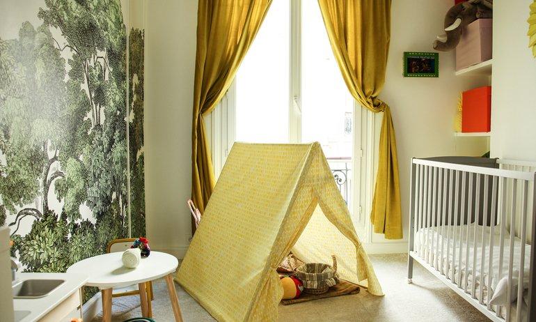Chambre d'enfant Cabane Panorama Papier peint Salon Alexia Aubert Matthieu Albertini Paris