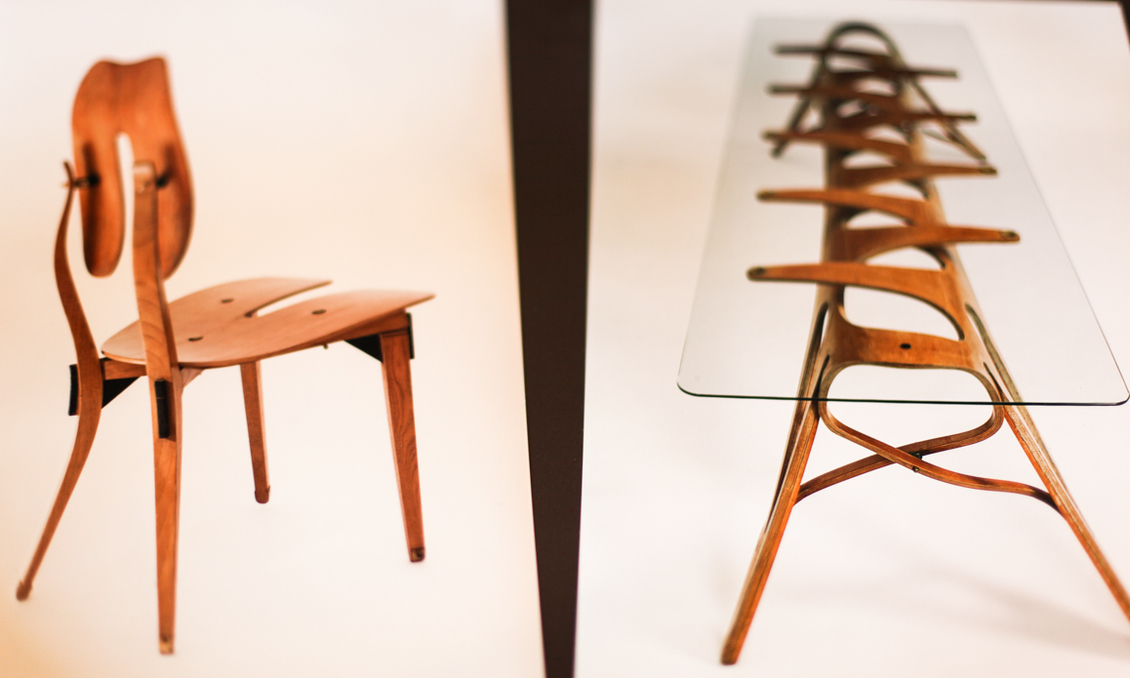 Carlo Mollino Table And Chairs