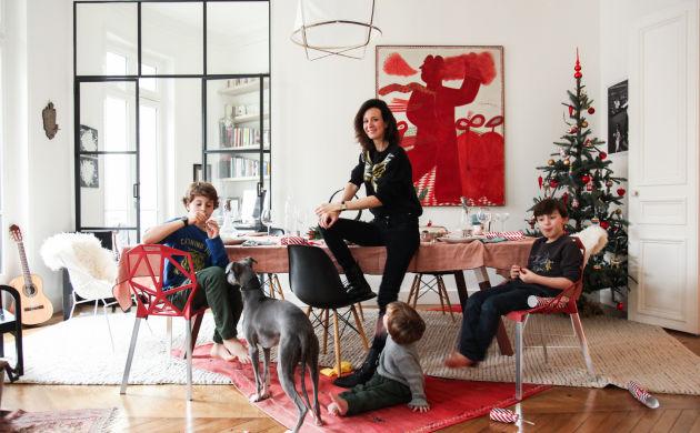 Alexandra Diez de Riviera, <br>Gaspard 10, Felix 7 <br> and Constantin 2 years old
