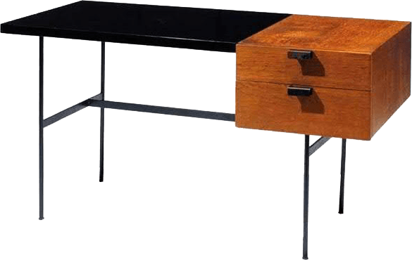 pierre paulin desk cm141 thonet 1954 the socialite family. Black Bedroom Furniture Sets. Home Design Ideas