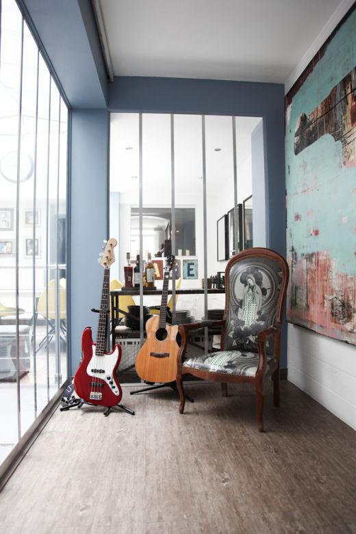 Salle de musique Appartement Loft Paris Diego Bunuel et Maggie Kim
